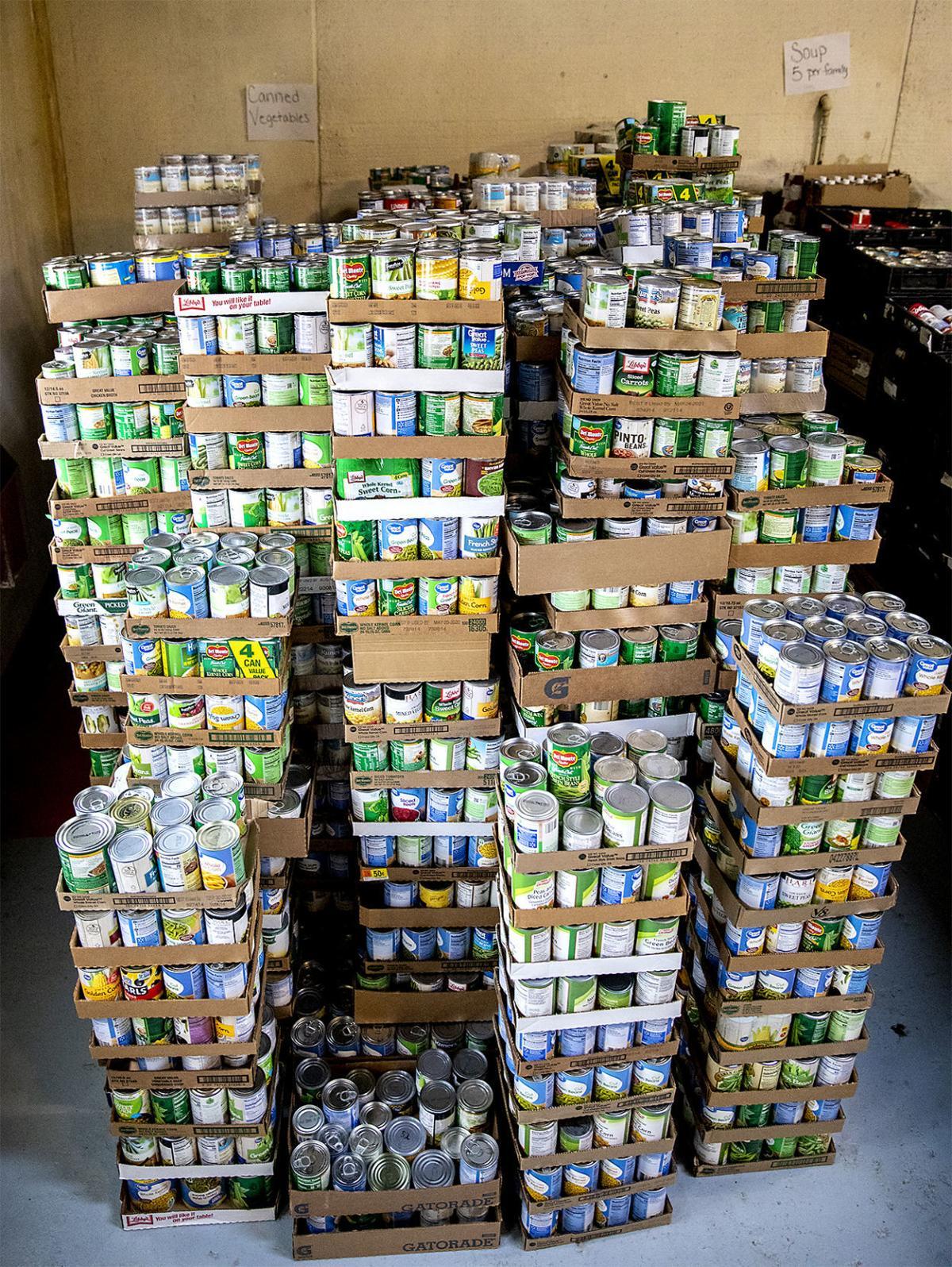 Christmas basket distribution