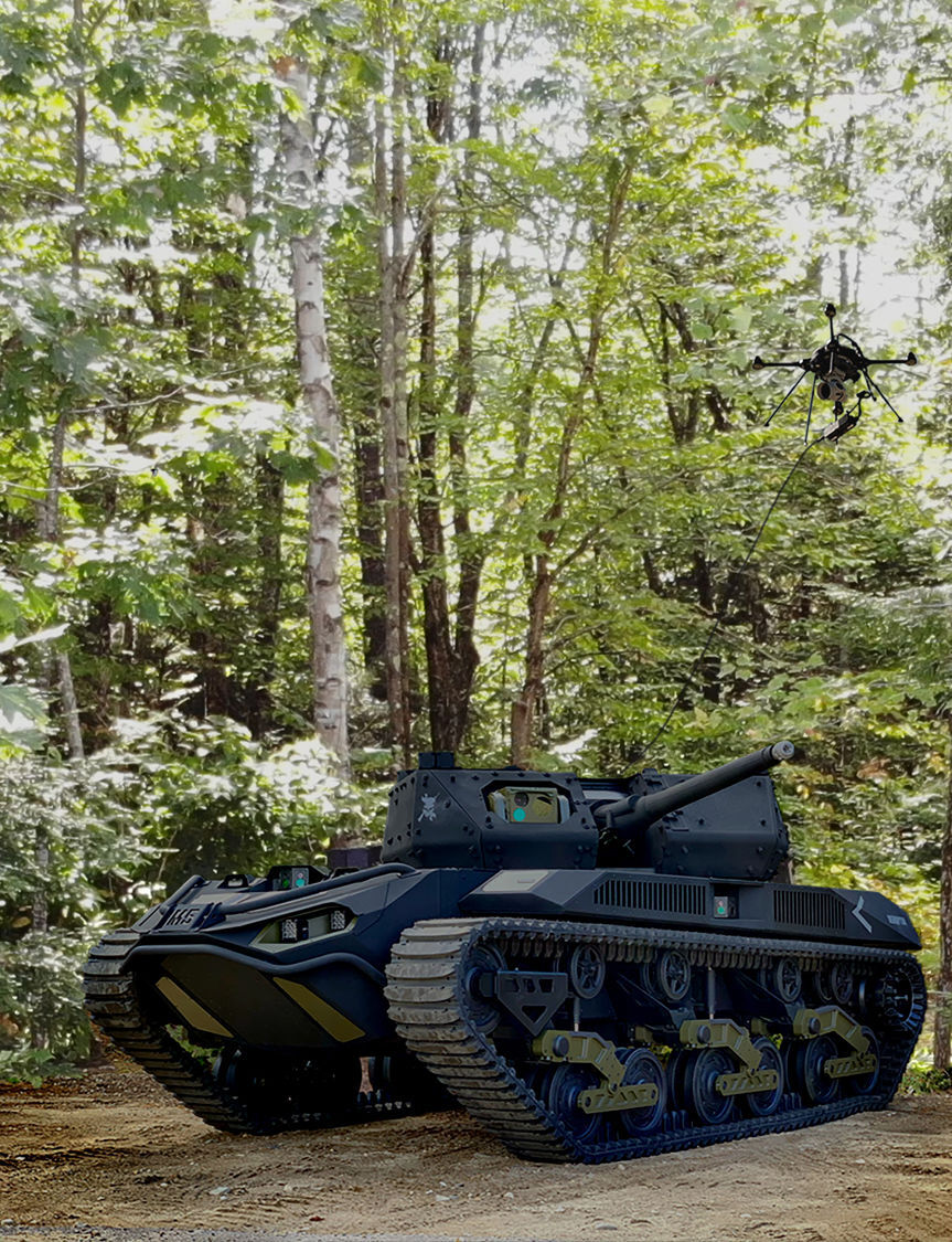 Robotic combat vehicle