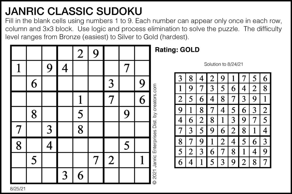 Sudoku August 25