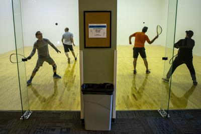 Racquetball with a side of trash talk