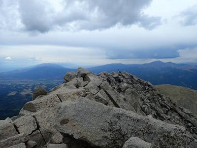 Mounta Shavano hiker
