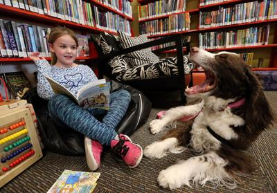 Dog listeners  help kids with  reading skills