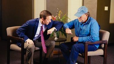 Mark Luker, M.D. Orthopedic Surgeon & Jon Gartz, patient