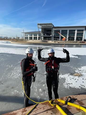 GJFD practices ice rescue