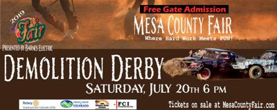 Demo Derby at Mesa County Fair