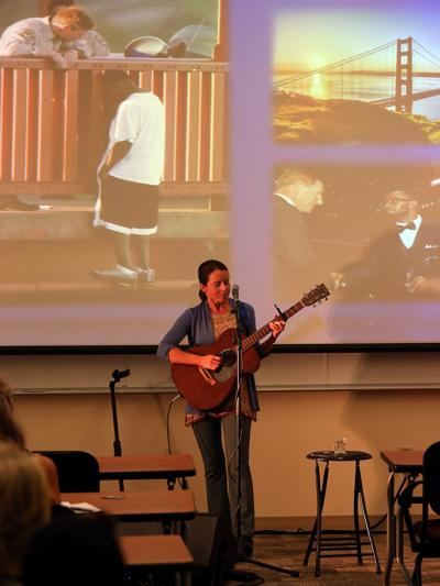 Mental health advocate shares story, music