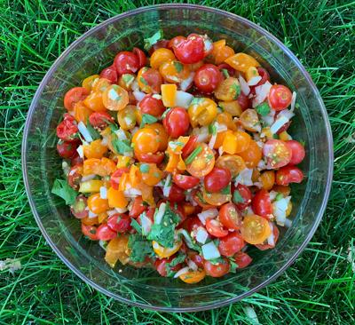 Salsa made with cherry tomatoes
