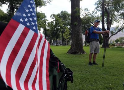 Man on 3,000-mile trek to help fellow vets
