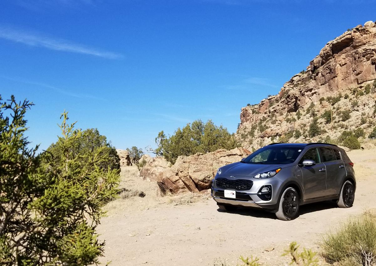 2020 Kia Sportage AWD S: Both between and outside the lines