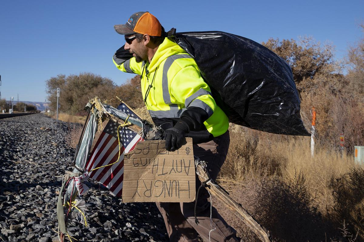 Deputies, railroad clear out illegal campsites