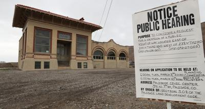 Christopher Tomlinson/The Daily Sentinel  The historic Lion Mountain Fruit Building at 244 W. Third St. in Palisade may soon have a new purpose. Colterris Vineyards is hoping to develop it as a wine bar and museum. The town is considering vacating a portion of its right-of-way on the east side of the building.