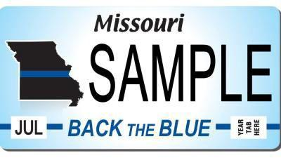 Back the Blue plates available