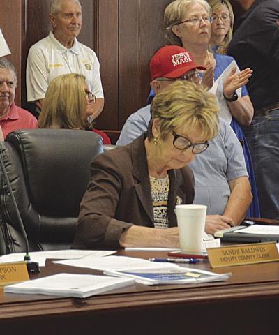 Sandy Baldwin appointed county clerk