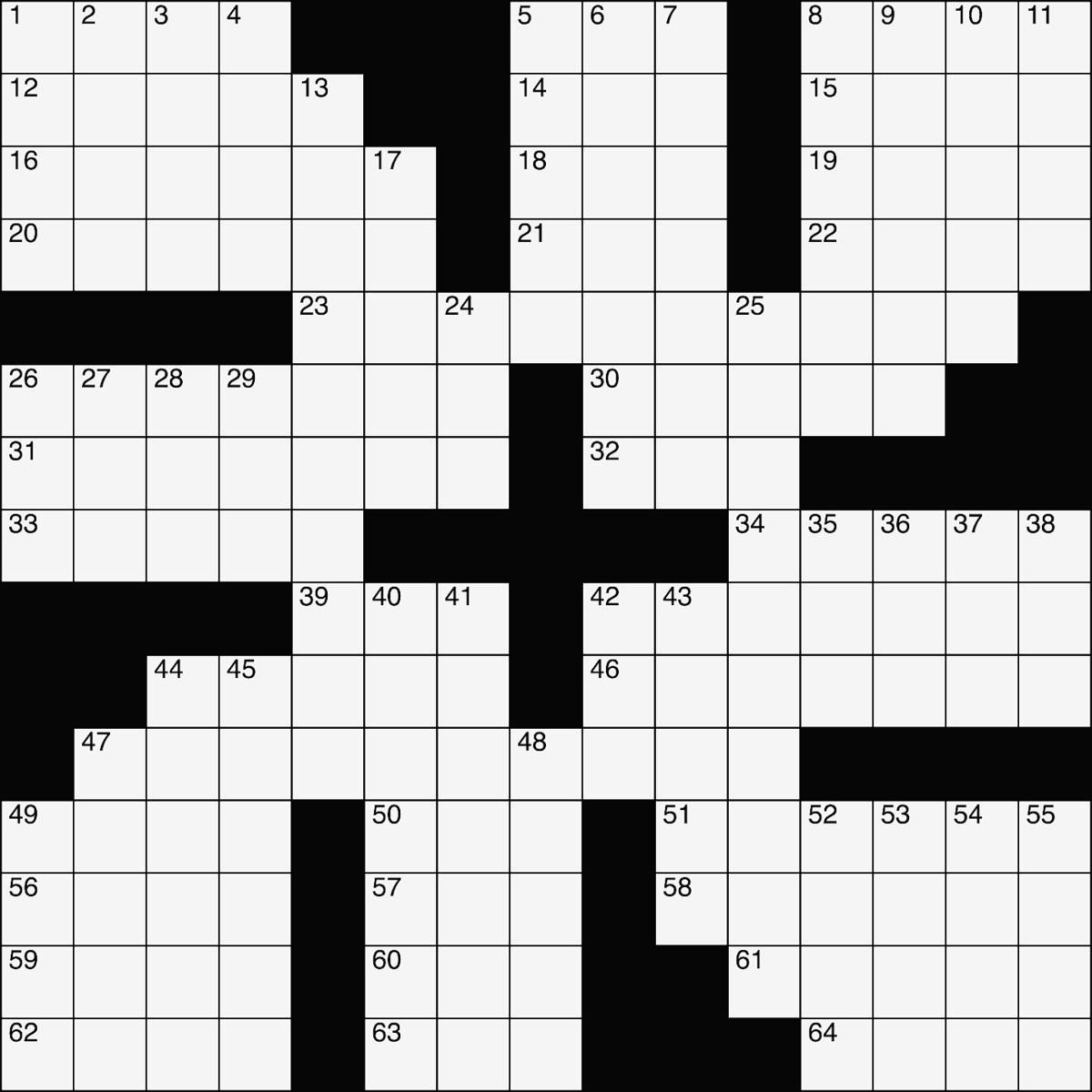 Crossword Sept 13 2018 Entertainment Gladstonedispatch