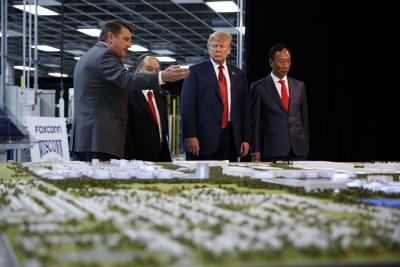 Foxconn Wisconsin - Gou, Walker, Trump