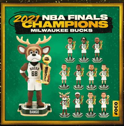 FOCO Releases Bucks 2021 NBA Championship Merchandise