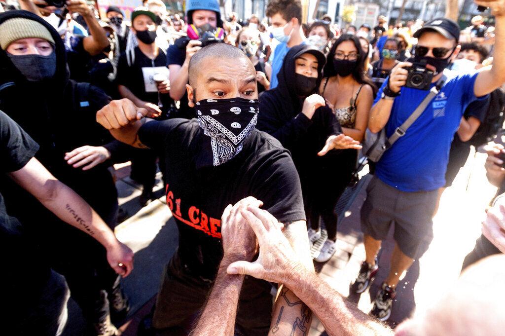 APTOPIX Protest San Francsico