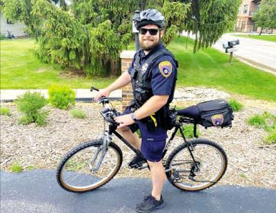 Patrolling the streets on two wheels