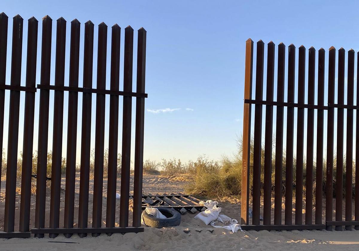 California-Highway Crash - hole in fence