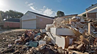 House with Debris