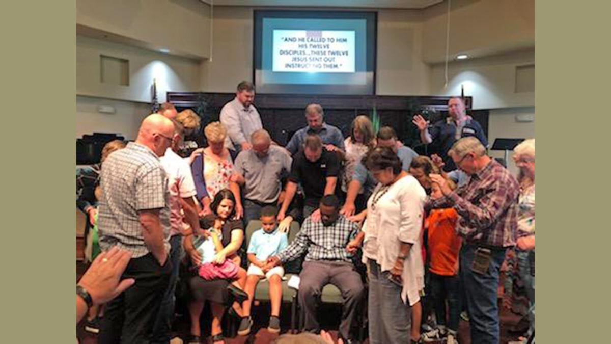 Church Prays Over Okeyo Family