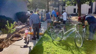 Del Norte Bike Repair Event at Apartments