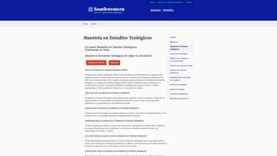 SWBTS website MET degree page
