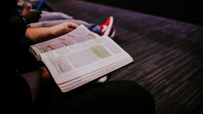 Bible in Lap