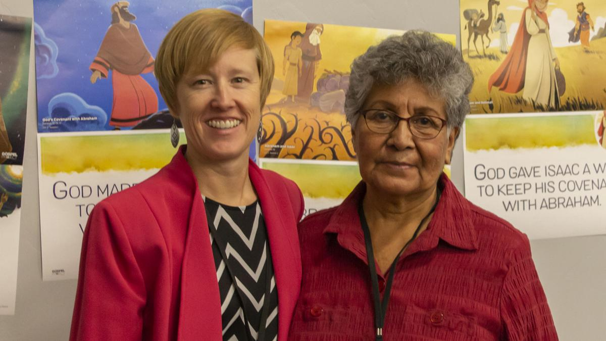 Melissa Lamb and Edna Romero at 2018 WMU Annual Meeting