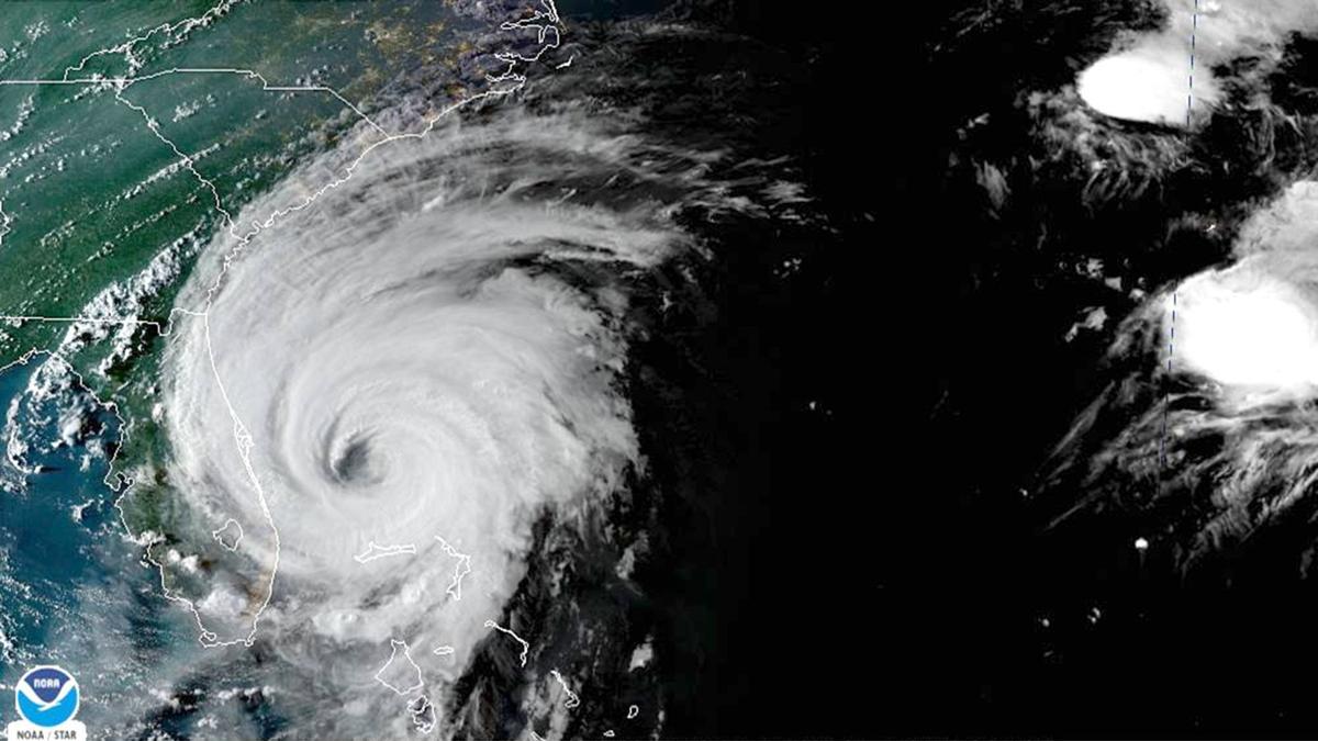 Hurricane Dorian with Map