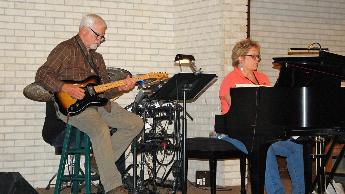 Clark Henderson and Cheryl Vaughn at NM Singing Churchmen Rehearsal