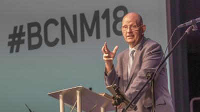 John Hinze Delivers the PResident's Address at the 2018 BCNM Annual Meeting