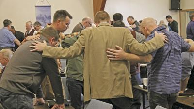 Praying Together at PLC