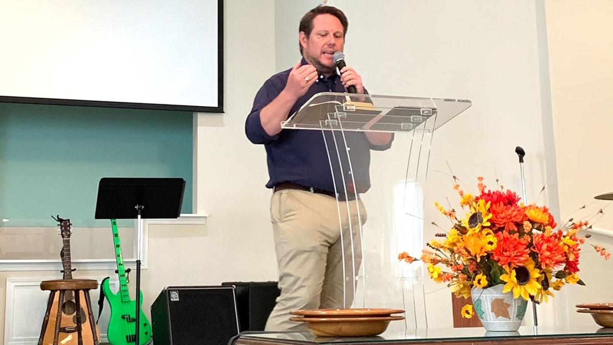Drew Moss Preaching