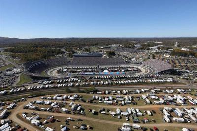 Aerial view of Martinsville Speedway