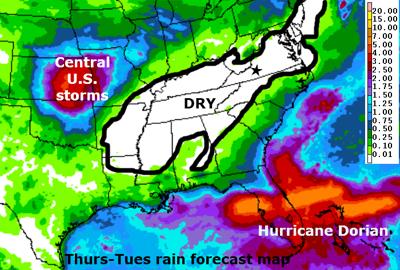 5-day rainfall map 082919
