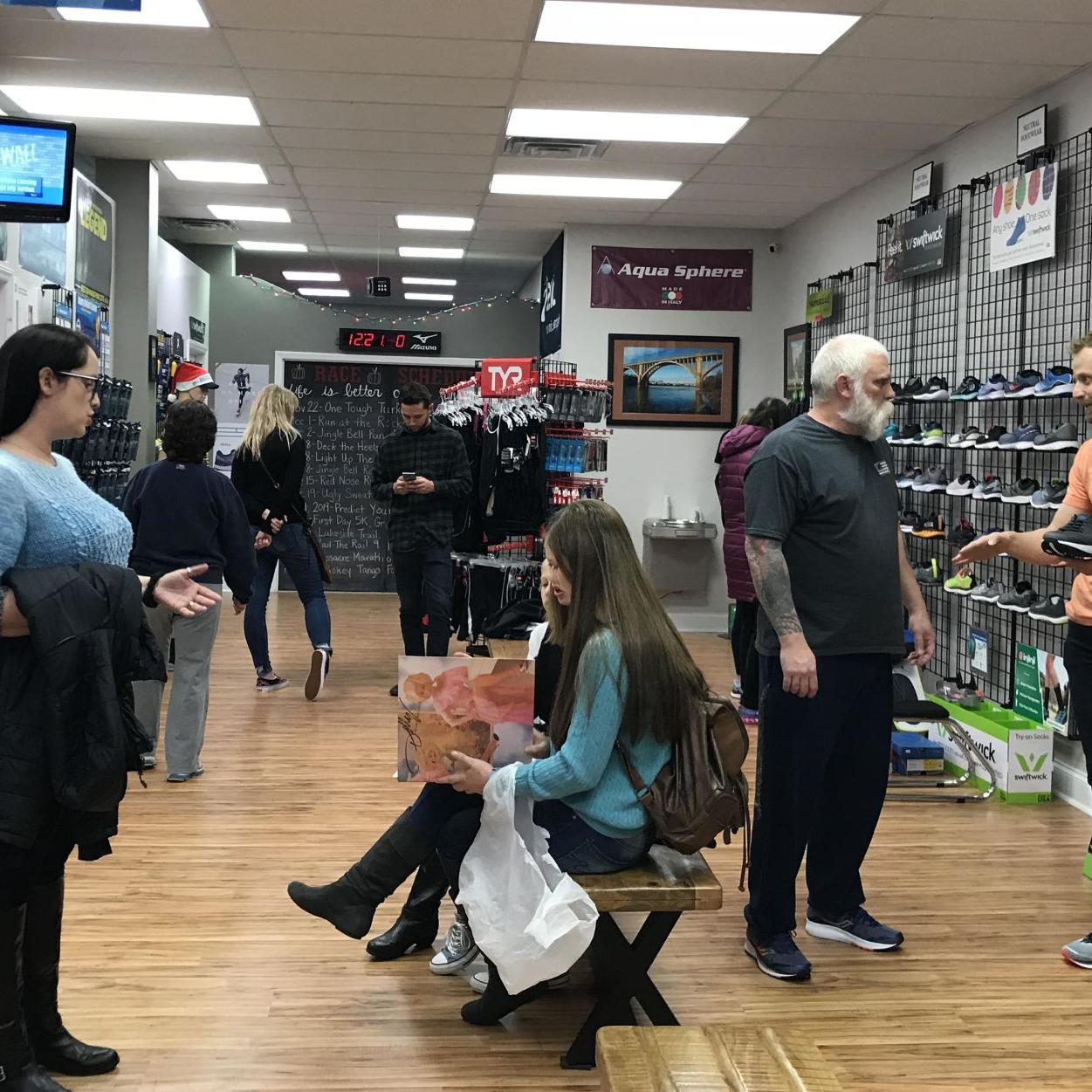 Cold, rainy weather doesn't deter shoppers on Small Business