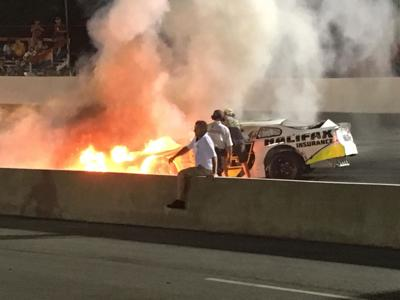 Mike Jones' wreck at South Boston Speedway goes viral, but