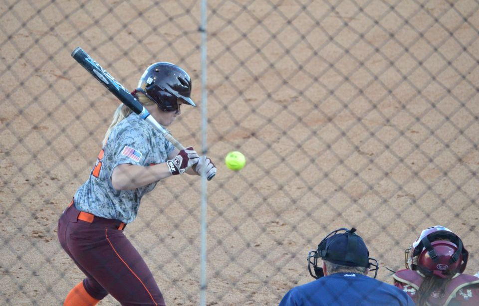 Bailey Liddle at the plate