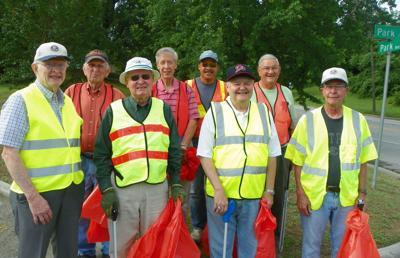 Danville Kiwanis Club members clean up