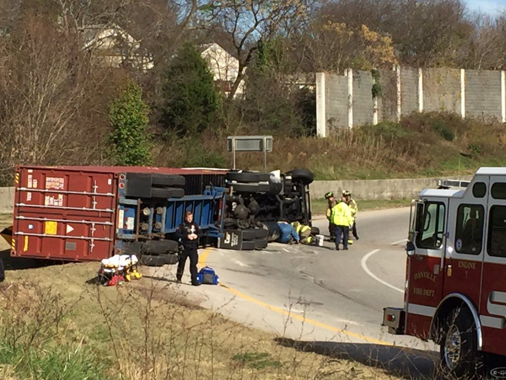 Tractor-trailer overturns in Danville   Danville   godanriver.com