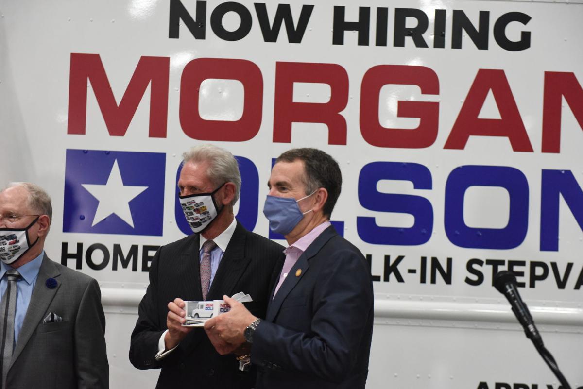 Northam visits Morgan Olson