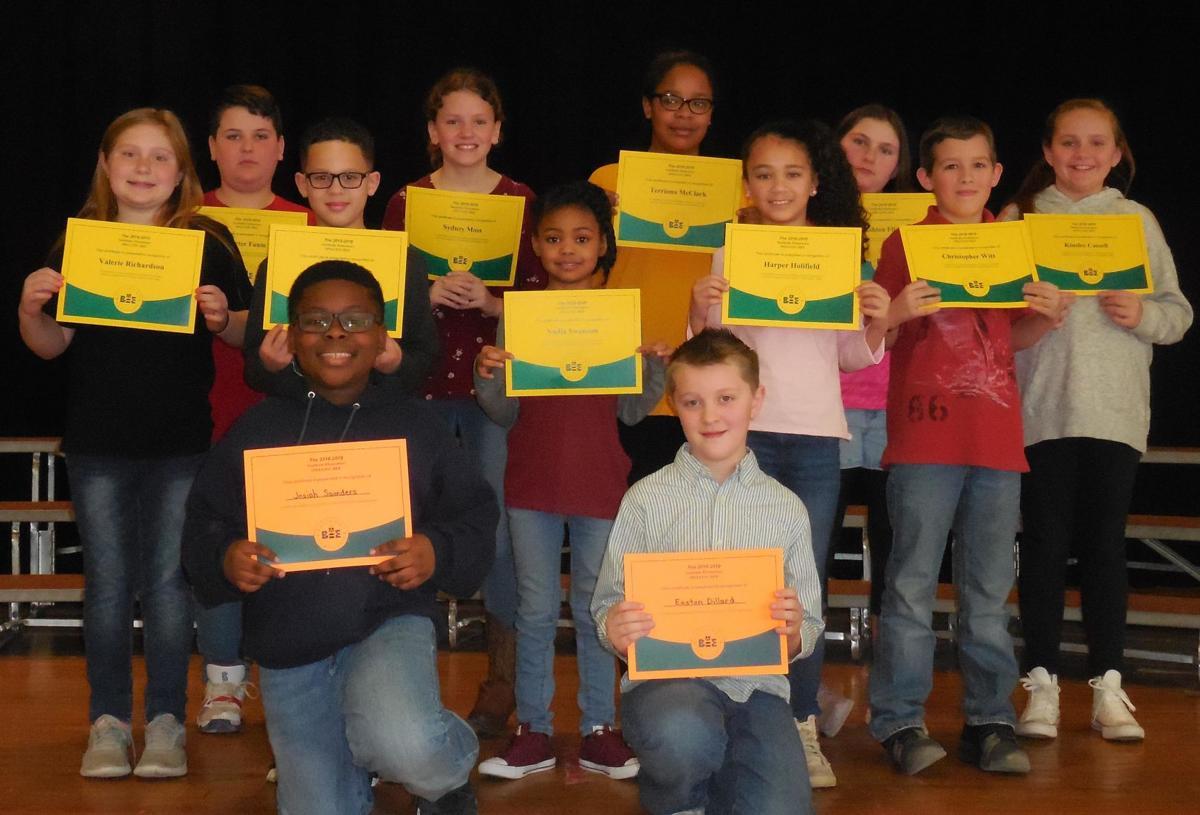 Schools participate in spelling bee   Faces Places   godanriver com
