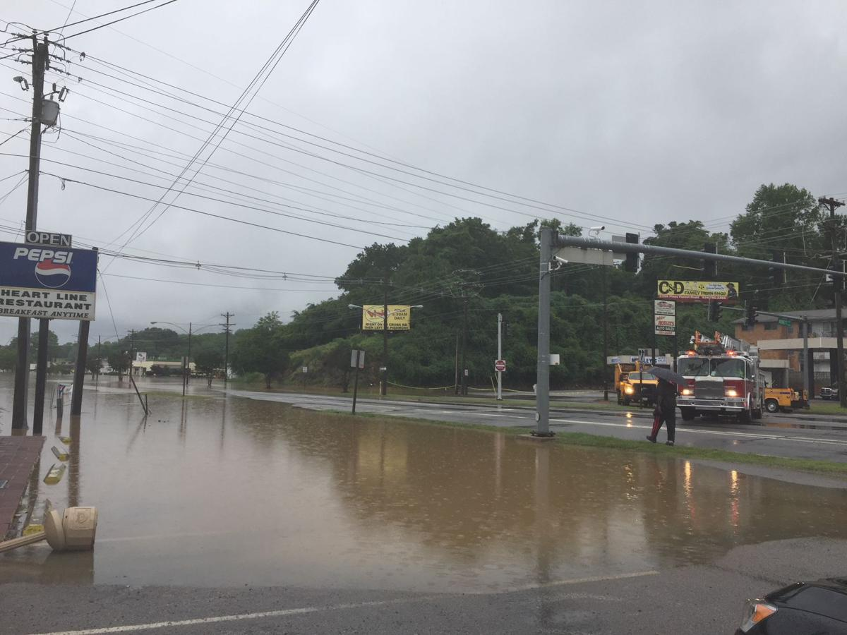 photos drenching rain sparks flash flooding in danville danville