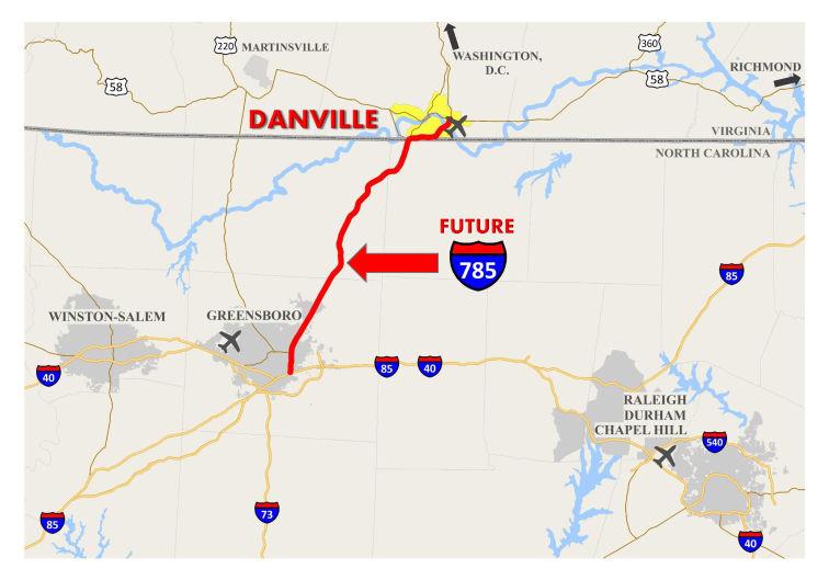 Future I 785 Corridor Signs Return To Danville As A Symbol Of A