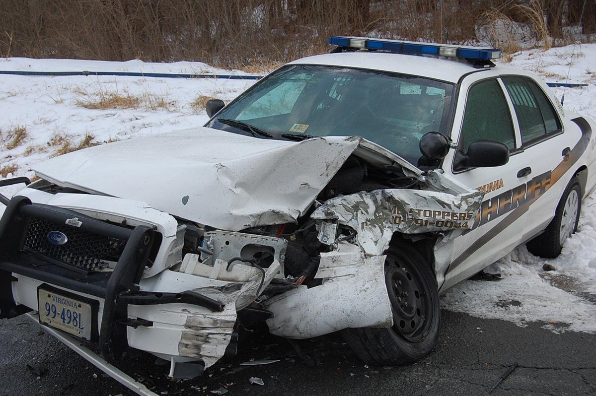 Deputy Truck Driver Collide In Rural Wreck