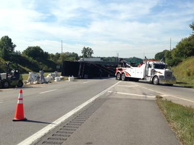 Overturned semi halts U.S. 29 traffic