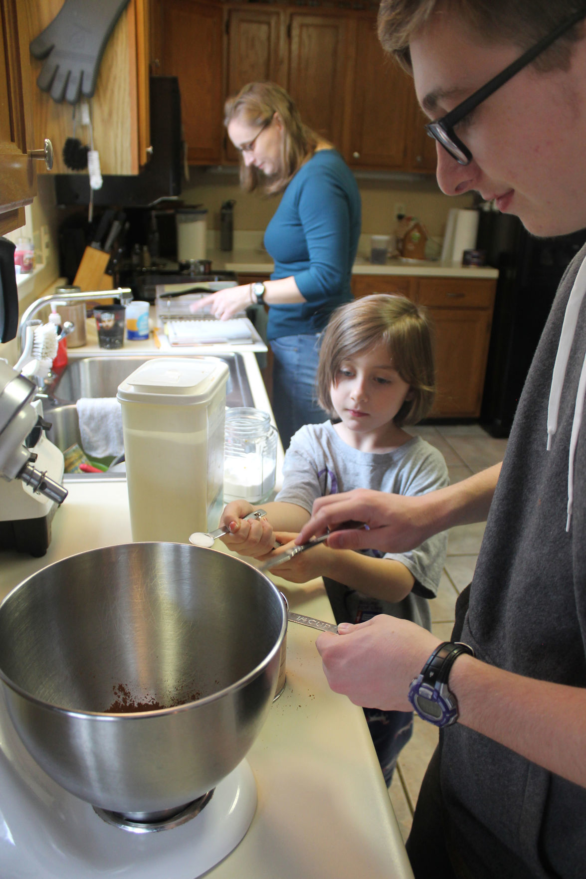 Cooking with the kids