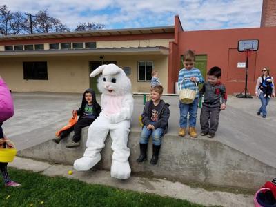 Kids hunt for mysterious eggs