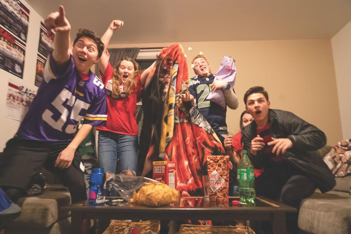 Gonzaga students start to huddle up for Super Bowl LIV in Miami